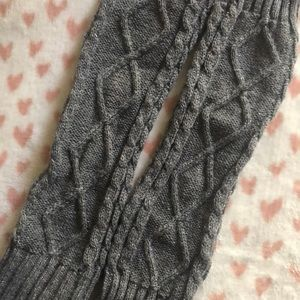 Accessories - Grey silver metallic leg warmers